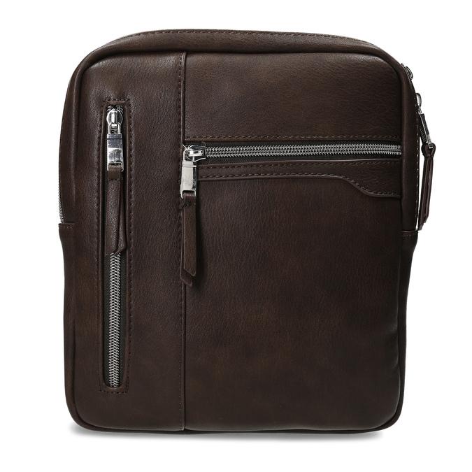 Pánská hnědá Crossbody taška se zipy bata, hnědá, 961-4966 - 26