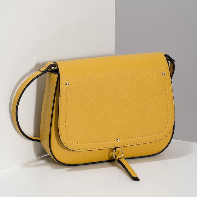 Žlutá crossbody kabelka, žlutá, 961-8955 - 17
