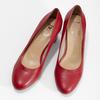 Kožené červené lodičky na stabilním podpatku insolia, červená, 624-5646 - 16