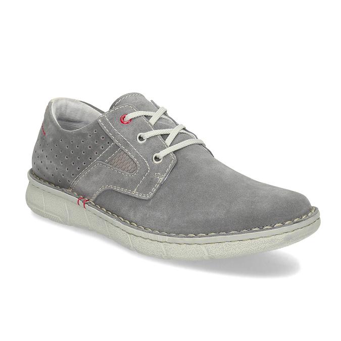 Pánské šedé tenisky z broušené kůže bata, šedá, 823-2640 - 13