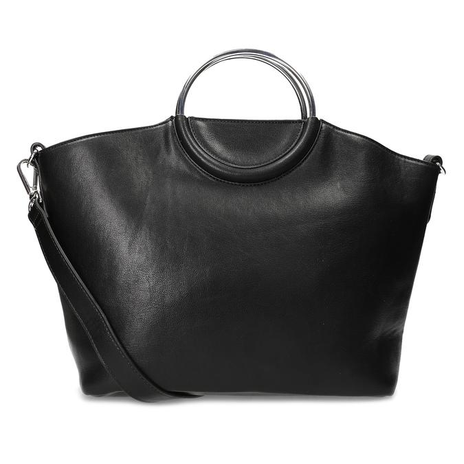 Dámská černá kabelka s kovovými uchy bata, černá, 961-6934 - 16