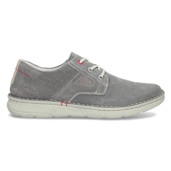 Pánské šedé tenisky z broušené kůže bata, šedá, 823-2640 - 19