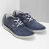 Modré pánské tenisky z broušené kůže bata, modrá, 823-9640 - 26