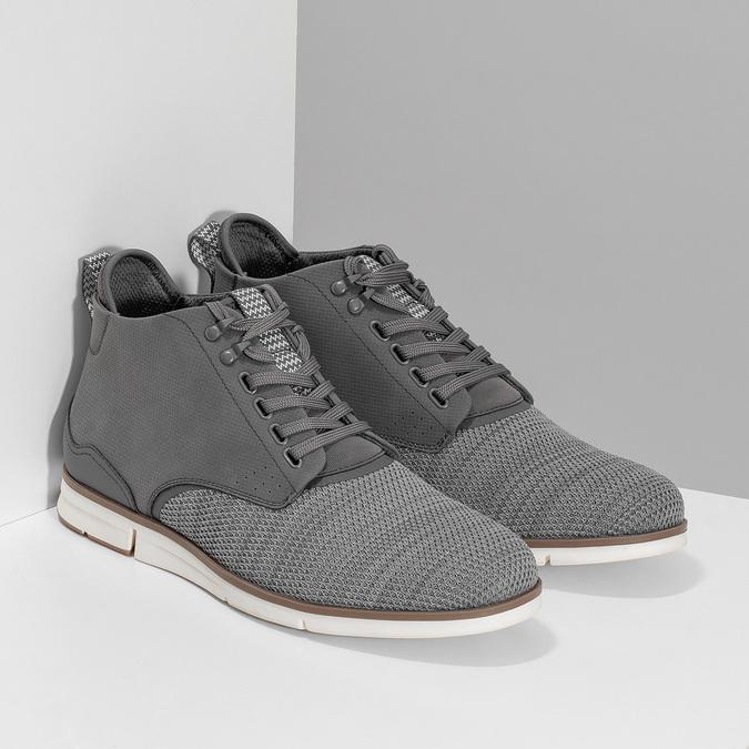 Šedá pánská kotníčková obuv bata-red-label, šedá, 821-2607 - 26