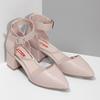 Tělové dámské lodičky na stabilním podpatku bata-red-label, růžová, 621-8654 - 26