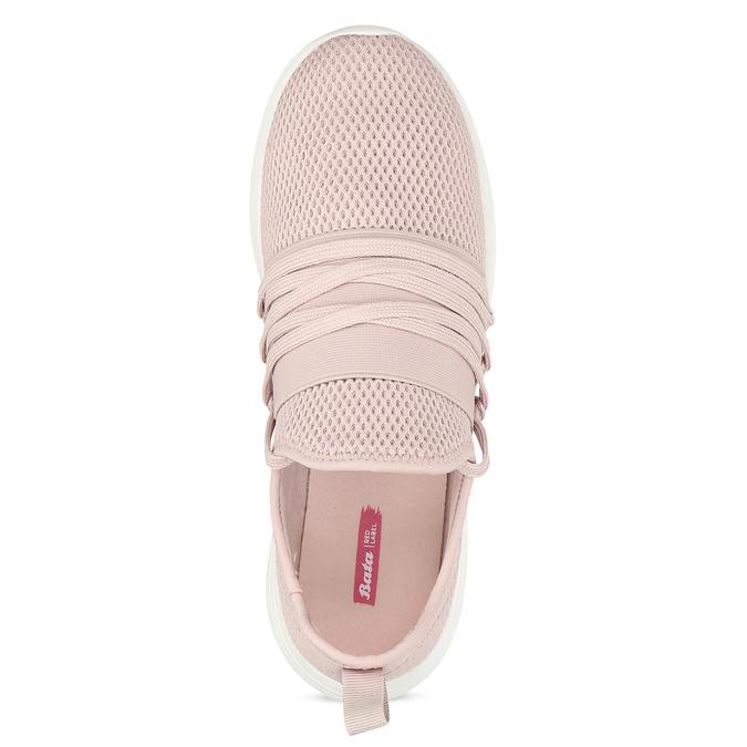Růžové dámské tenisky na bílé podešvi bata-red-label, růžová, 519-5607 - 17