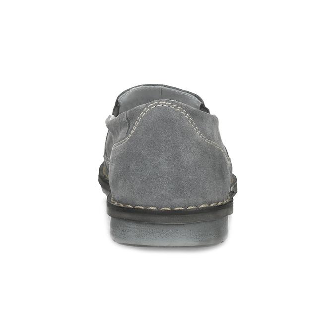 Pánské mokasíny z šedé broušené kůže comfit, šedá, 833-2651 - 15