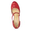 Červené kožené lodičky s asymetrickým páskem insolia, červená, 724-5662 - 17
