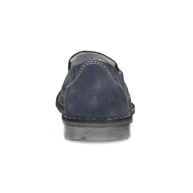 Tmavě modré pánské mokasíny comfit, modrá, 833-9651 - 15