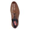 Pánské hnědé kožené polobotky s perforací fluchos, hnědá, 826-3841 - 17