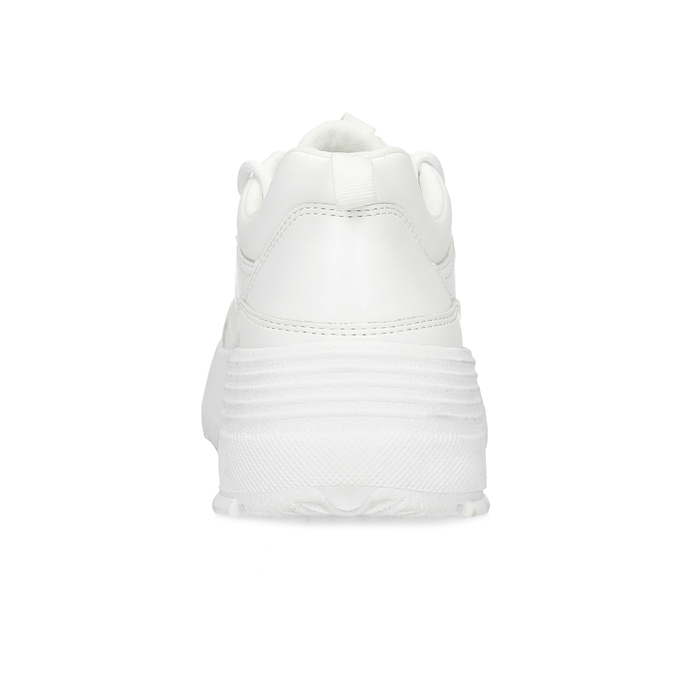 Bílé dámské tenisky na flatformě bata, bílá, 541-1608 - 15