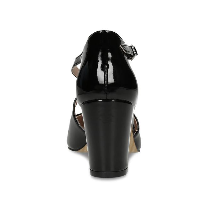 Dámské černé lodičky s pásky přes nárt bata, černá, 721-6663 - 15