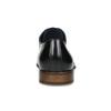 Černé kožené Derby polobotky s perforací bata, černá, 824-6833 - 15