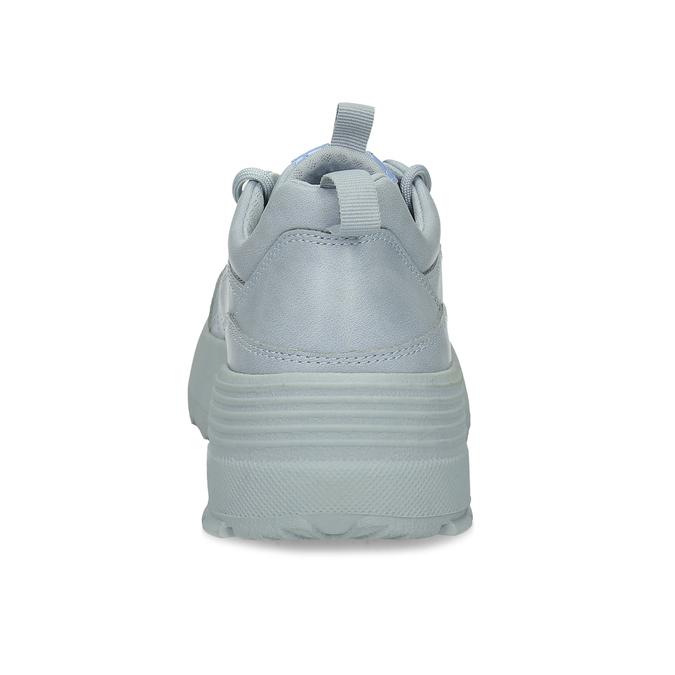 Dámské modré tenisky na flatformě bata, modrá, 541-9608 - 15
