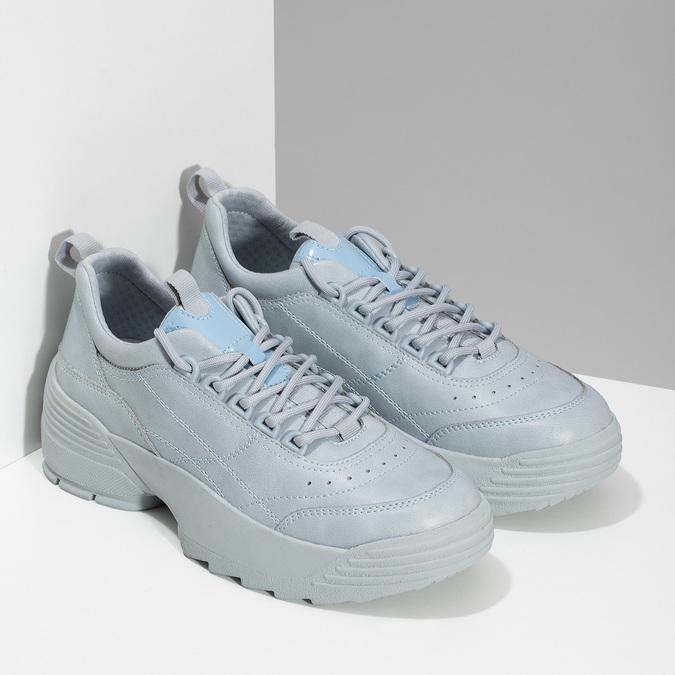 Dámské modré tenisky na flatformě bata, modrá, 541-9608 - 26