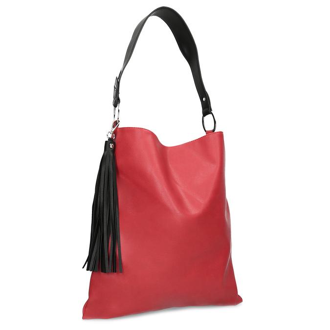 Červená Hobo kabelka s černými detaily bata, červená, 961-5935 - 13