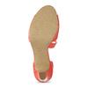 Korálové dámské sandály s asymetrickým páskem insolia, červená, 761-5600 - 18