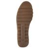 Béžová kožená Slip-on obuv s perforací comfit, béžová, 516-8614 - 18