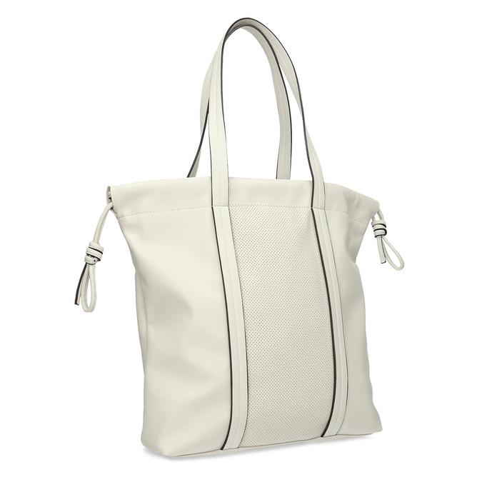 Béžová dámská kabelka s jemnou perforací bata, béžová, 961-8933 - 13