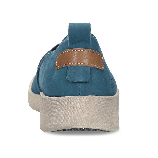 Modré kožené baleríny weinbrenner, modrá, 516-9623 - 15