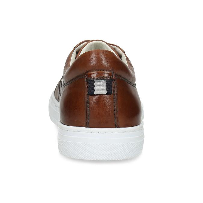 Kožené hnědé tenisky pánské bata, hnědá, 846-3649 - 15