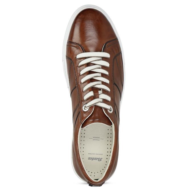 Kožené hnědé tenisky pánské bata, hnědá, 846-3649 - 17