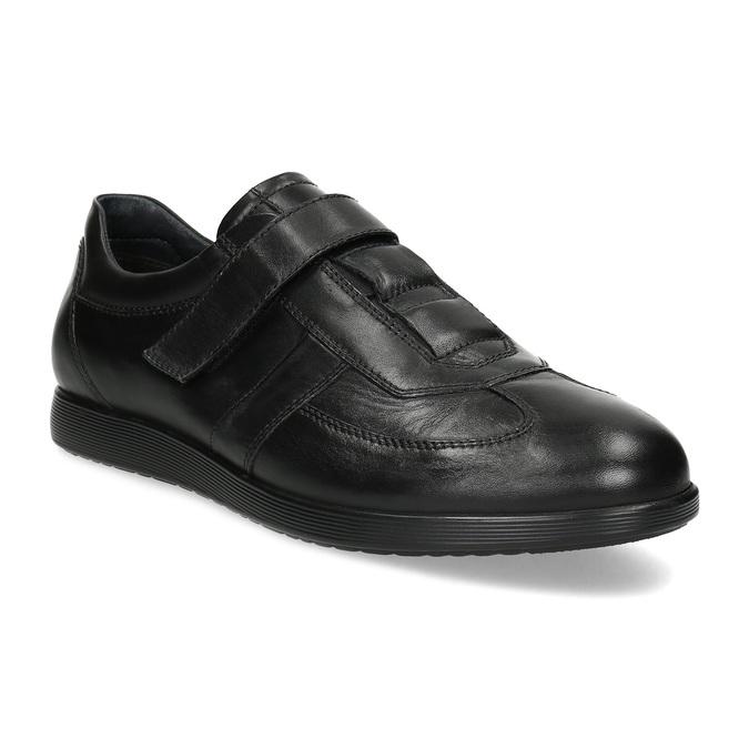 Pánská kožená obuv na suchý zip bata, černá, 824-6666 - 13