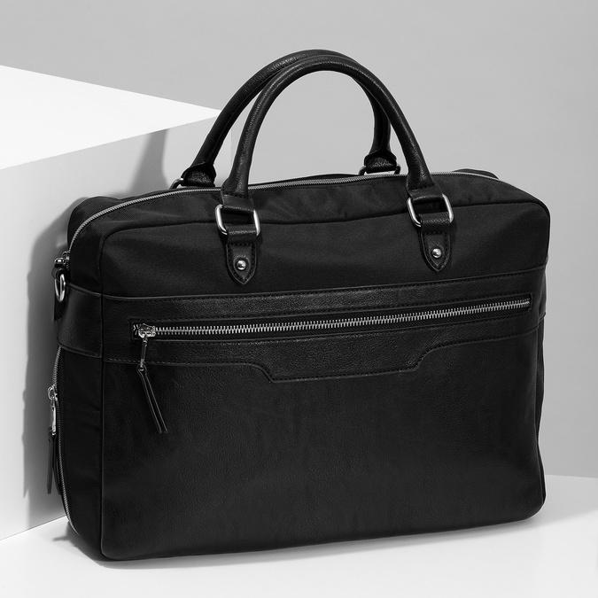 Pánská černá taška s popruhem bata, černá, 969-6950 - 17