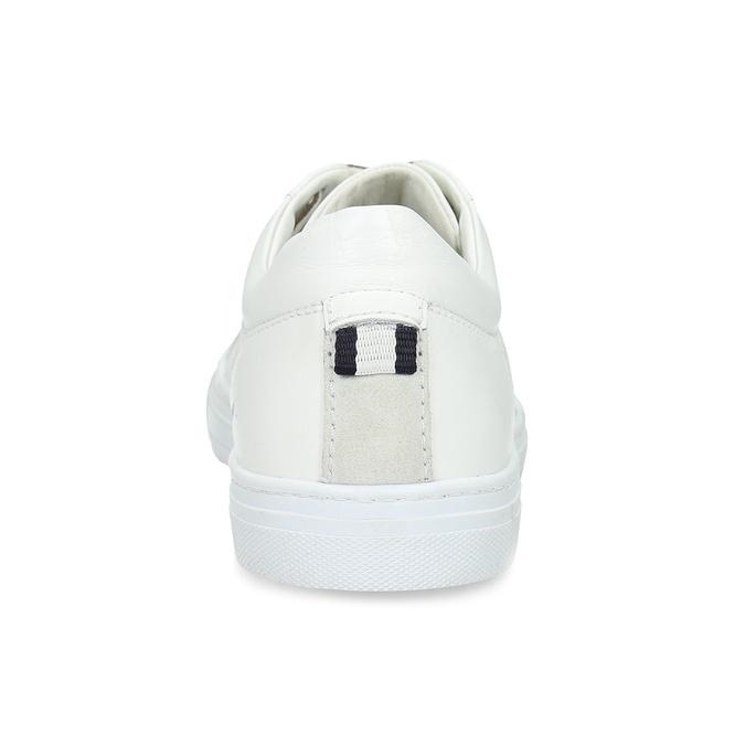 Bílé kožené pánské tenisky bata, bílá, 844-1649 - 15