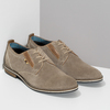 Pánské ležérní polobotky z broušené kůže bata, béžová, 823-2634 - 26