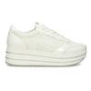 Bílé dámské tenisky na vysoké flatformě bata-light, bílá, 621-1656 - 19