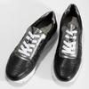 Dámské kožené tenisky černé bata, černá, 544-6600 - 16