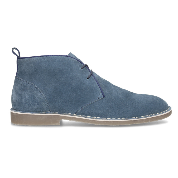 Pánské kožené Desert Boots modré bata, modrá, 823-9655 - 19