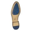 Hnědé kožené polobotky s brogue zdobením bata, hnědá, 823-3654 - 18