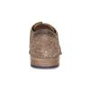 Hnědé kožené polobotky s brogue zdobením bata, hnědá, 823-3654 - 15