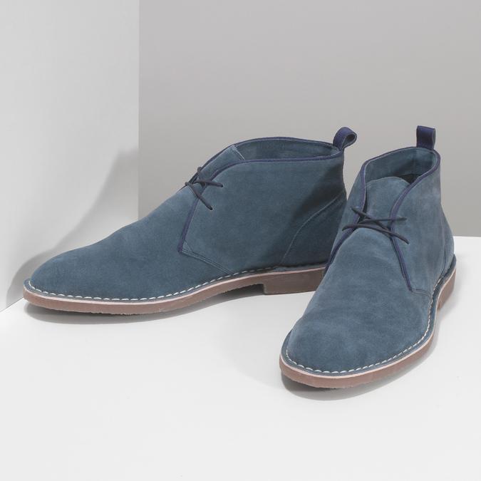 Pánské kožené Desert Boots modré bata, modrá, 823-9655 - 16