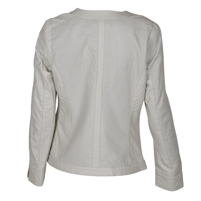Dámská kožená bunda bílá bata, bílá, 974-1122 - 26