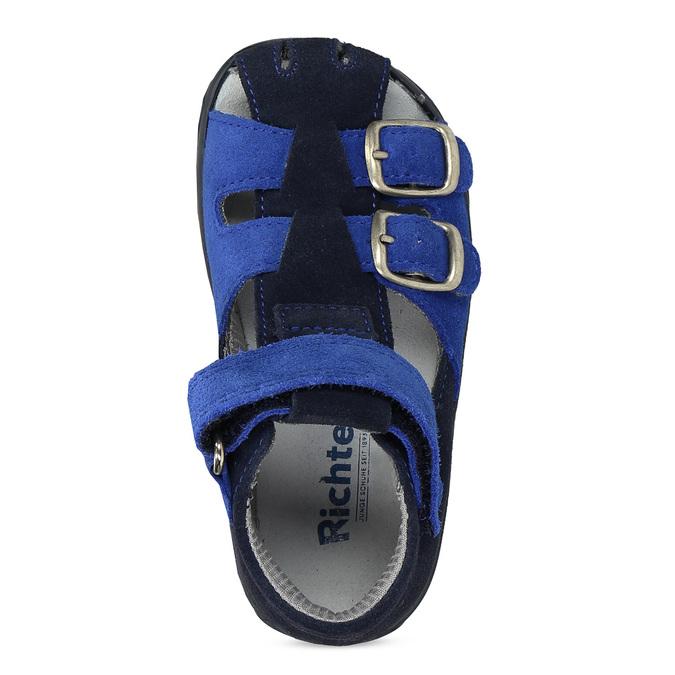 Kožené chlapecké sandály s přezkami richter, modrá, 163-9103 - 17
