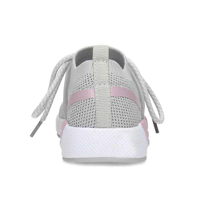 Šedé dětské tenisky v pleteném designu mini-b, šedá, 329-2282 - 15