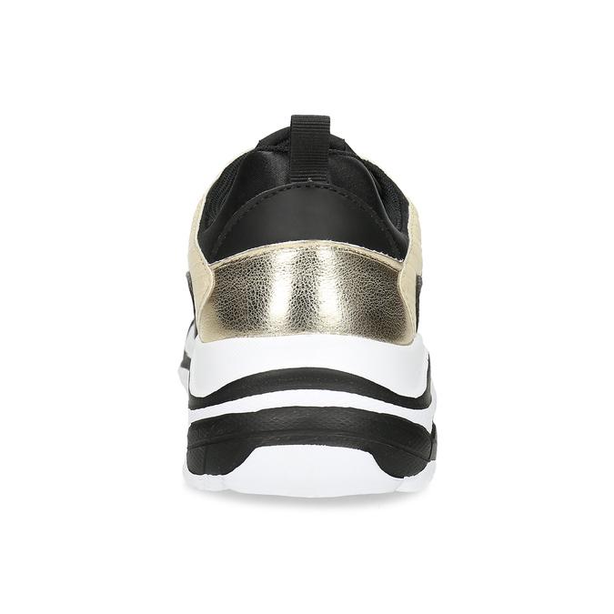 Černé dámské tenisky se zlatými detaily north-star, černá, 641-6609 - 15