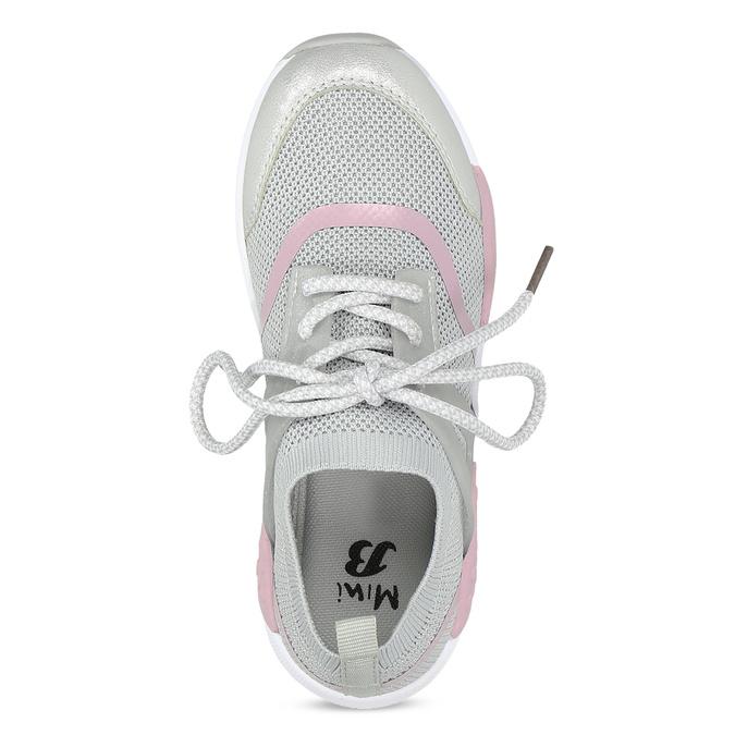 Šedé dětské tenisky v pleteném designu mini-b, šedá, 329-2282 - 17