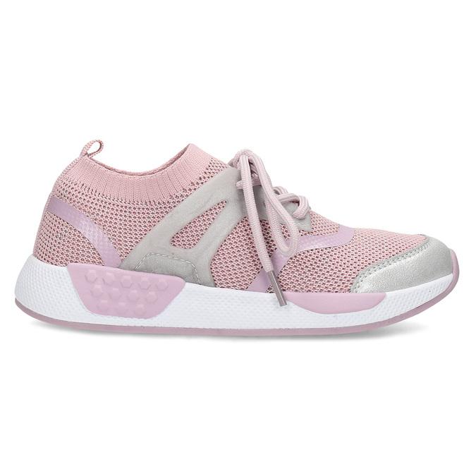 Růžové dětské tenisky v pleteném designu mini-b, růžová, 329-5282 - 19