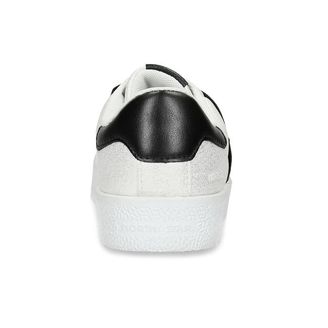 Stříbrné Slip-on tenisky s kamínky north-star, bílá, 531-2600 - 15