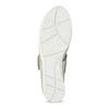 Kožené dámské baleríny šedé bata, šedá, 526-1667 - 18