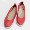 Červené kožené lodičky na výrazné podešvi comfit, červená, 624-5618 - 16