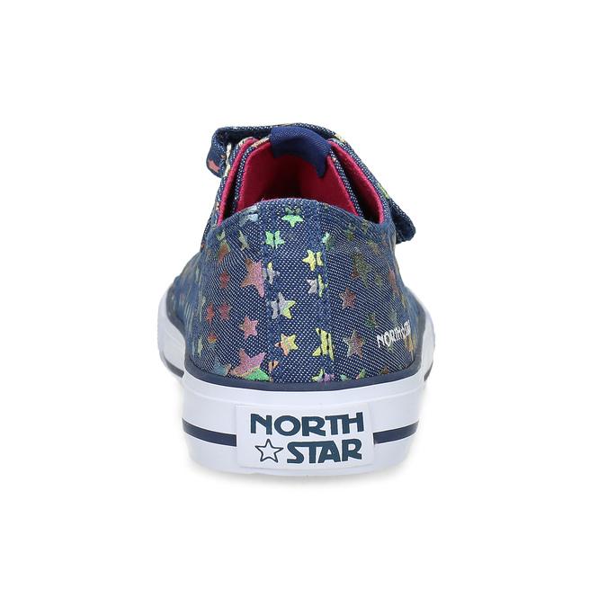 Modré dětské tenisky s duhovými hvězdičkami north-star, modrá, 429-9605 - 15