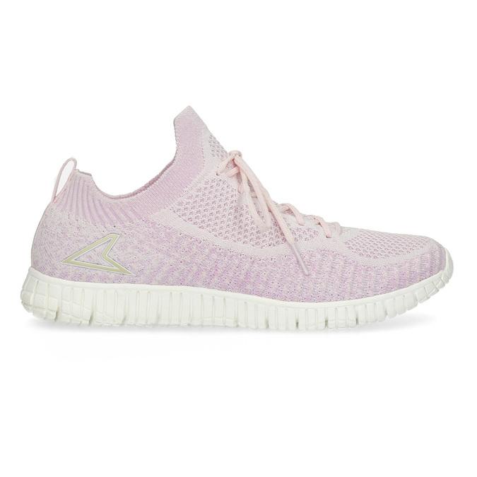Růžové dámské tenisky v pleteném stylu power, růžová, 509-5520 - 19