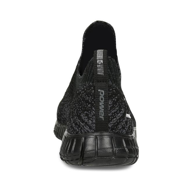 Dámské černé tenisky s žíháním power, černá, 509-6520 - 15