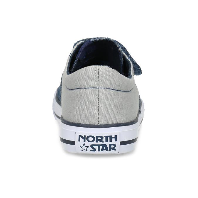 Ležérní dětské tenisky se suchým zipem north-star, modrá, 419-9620 - 15