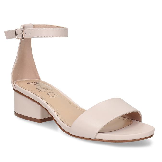 Tělové dámské sandály na nízkém podpatku insolia, růžová, 661-8620 - 13
